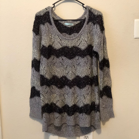 Maurices Sweaters - Striped sweater with silver accents